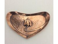 Arts and Crafts Copper Pin Tray