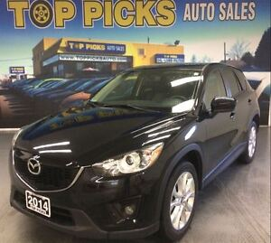 2014 Mazda CX-5 GT, LEATHER, SUNROOF, NAVIGATION, AWD!