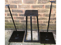 3 x Speakers Stands Adjustable Hi-Fi floor Speaker Stands