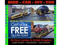24/7 CHEAP !! ANY CAR - VAN -JEEP RECOVERY & TOW TRUCK SERVICE TOWING / JUMP START ASSISTANCE SCRAP