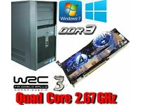 Light Gaming PC, Quad Core 2.67GHz, HD 4850, 4GB Ram, 320GB HD
