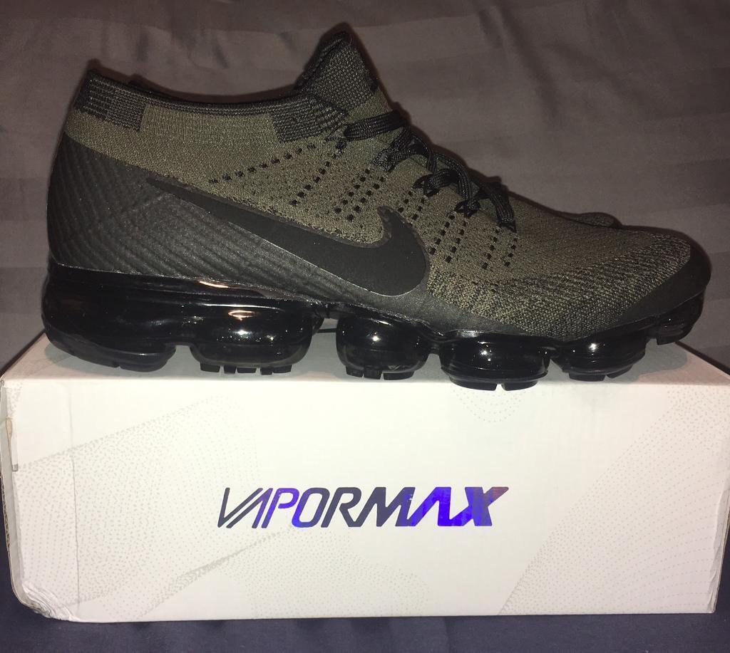 innovative design cecd6 c47f1 Nike Air Vapormax Flyknit Mens UK 10 Army Khaki Green Traine