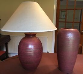 Table Lamp & Matching Vase by NEXT