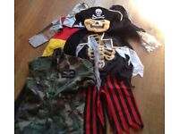 Childrens Dressing Up Costumes Skeleton Pirate Army Halloween