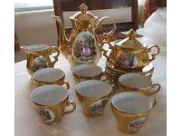 Decorative Antique Porcelain Coffee Set