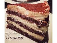 Tiramisu cake (gluten free sugar free)