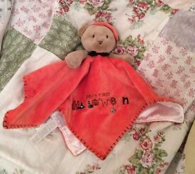 Carters Baby's first Halloween baby comforter soft toy
