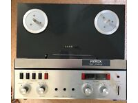 Revox A77 reel to reel with manual, mains lead and microphone