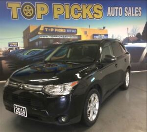 2014 Mitsubishi Outlander GT, AWD, LEATHER, SUNROOF, NAVIGATION