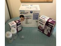 Avent bundle (steriliser and breast pump)