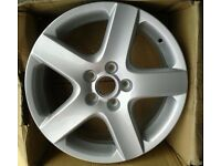 "1 X GENUINE REFURBISHED VW MK5 MK6 GOLF TOURAN CADDY 17"" ALLOY WHEEL 1K0601025B 5X112PCD"
