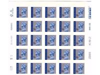 25 royal mail special delivery up to 100g postage stamps f.v. £161.+ will sell for 13% discount £140