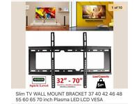 3 x TV wall mounts, slimline, flat to the wall *Brand New* still in packaging.