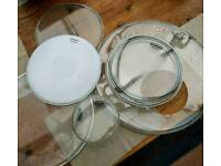 Remo, Evans, Code drum heads. Job lot. Bass snare toms. Like new!