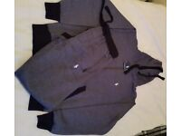NEW RALPH LAUREN MEN FULL TRACKSUIT HOODIE & TROUSER WITH ZIP POCKET -NAVY- SIZE: S, M & L
