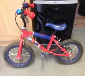 14inch Spider-Man bike with helmet
