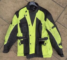 HI-VIZ Motorcycle motorbike jacket size small men, 14 ladies