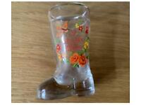 Wellington boot vintage shot glass I Love you Mum