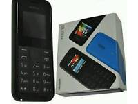 Nokia 105 Single Sim Black Unlocked Brand New