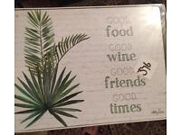 PLACEMAT CORK S/6 29X21.5 Rio food & wine Stock Code: 1-D7506... new