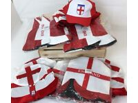 BRAND NEW 150 X NOVELTY ENGLAND WORLD CUP HATS JOB LOT WHOLESALE - RESALE -CAR BOOT