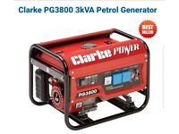 *** Clarke Patrol 3kVA Generator for sale ***