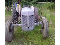 Old grey Ferguson tractor TD20 good condition original body panels