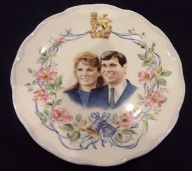 Royal Albert Commemorative Wedding Plate: Marriage of Prince Andrew and Sarah Ferguson - 1986 Boxed