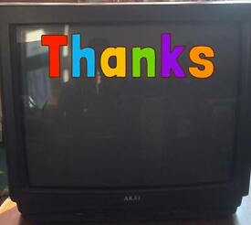 """CRT Television - Akai 20"""" inch TV with remote 1 Scart Socket"""