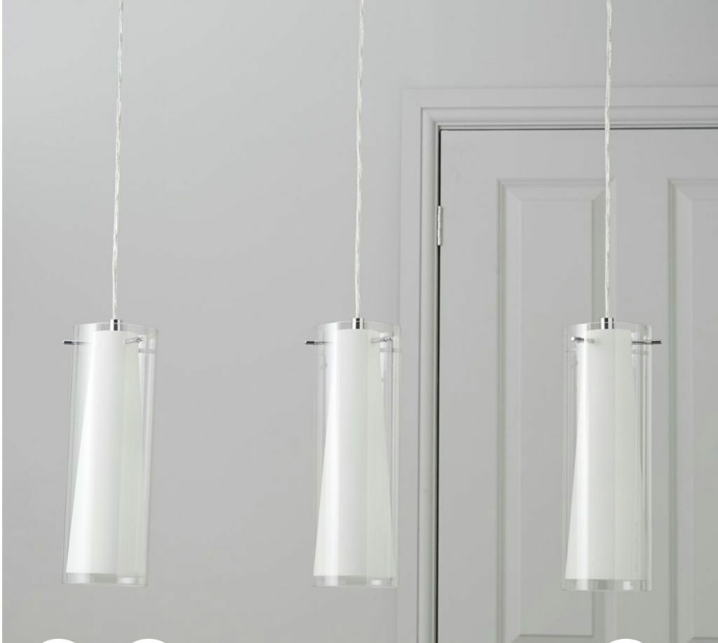 BQ Kamara Tube White Lamp Pendant Ceiling Light In Coventry - Kitchen pendant lighting bandq
