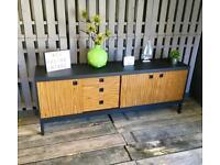 Vintage Retro Teak Formica sideboard