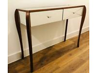 2 x Laura Ashley mirrored console tables/display tables/ TV tables (one pair)