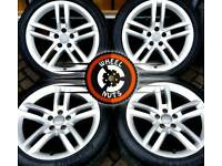 """18"""" Genuine Audi S Line twin spoke alloys matching Continental tyres."""