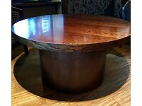 Round coffee table - solid wood