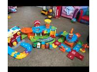 V-tech toot toot driver bundle (garage fire station airport) 5 cars