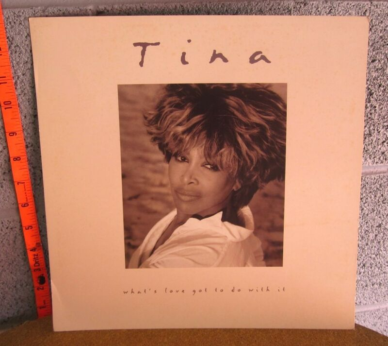 TINA TURNER lot 2 square posters What's Love Got to Do promo record flats 1990s