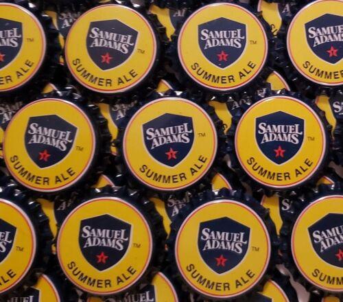 100 Yellow Beer Bottle Caps Sam Adams Summer Ale (MINT NO DEFECTS)