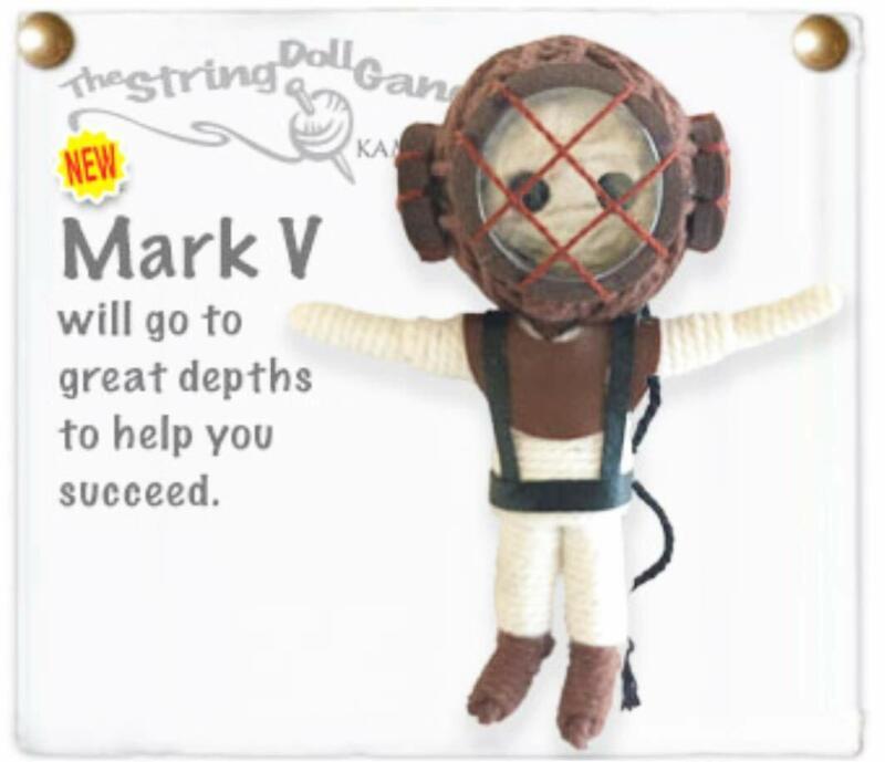 Kamibashi Mark V Scuba Diver The Original String Doll Gang Keychain Clip