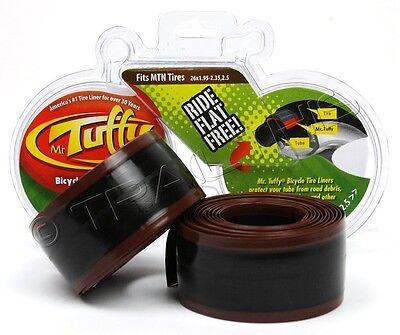 "Mr.Tuffy 26x1.95-2.5 Pair of Bike Tire (2) Liners Stops Flats MTB Bike 26"" Brown"