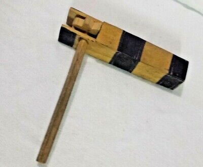 Sporting Event Noisemakers (Vintage NOISEMAKER Wooden Crank Rattle WORKS New Years, Sporting Events,)