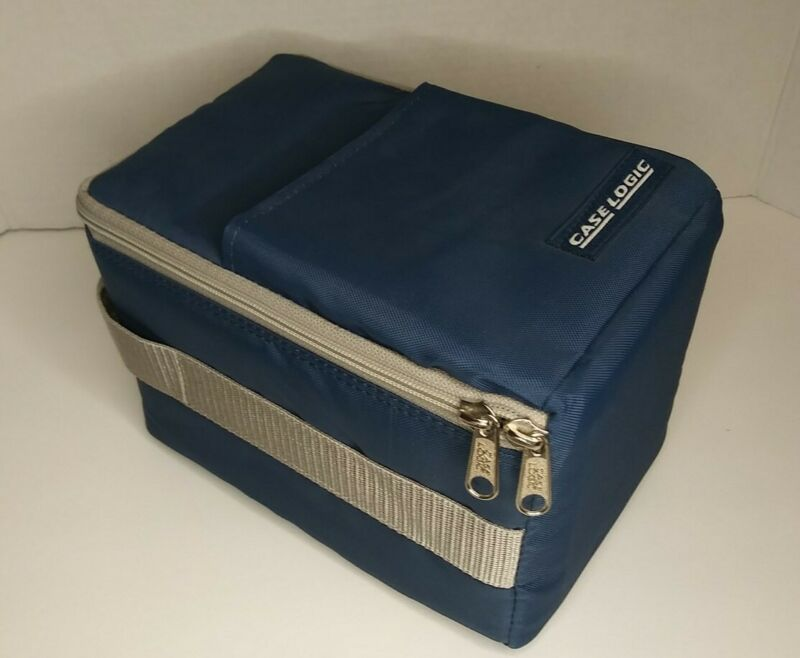 Vintage Case Logic Portable CD Storage Carrying Case Blue Holds 15 Hard Case