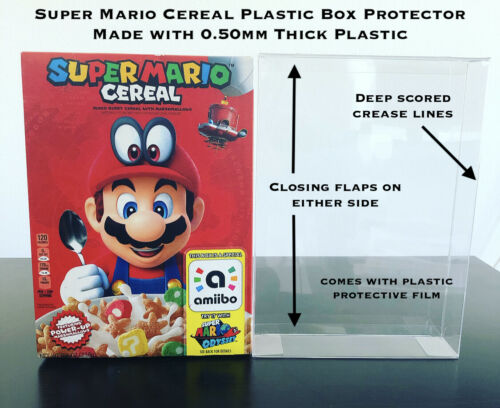 Nintendo Super Mario Odyssey Amiibo Cereal Box Protector .50mm Thick PET Plastic