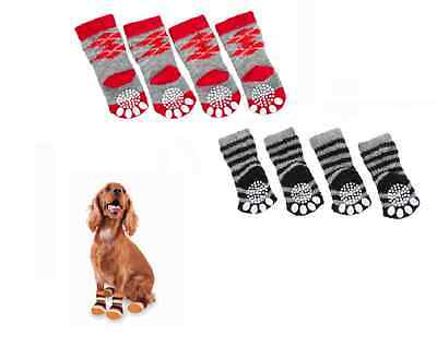 Hundesocken   Anti-Rutschsocken   4er Set   Hundeschuhe