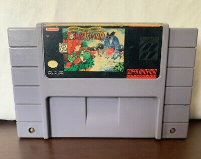 Super Mario World 2 Yoshi's Island SNES, 1995 Super Nintendo. Authentic.