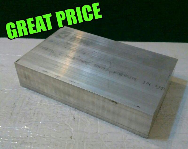 """1.5""""X 4"""" X 6"""" long new 6061 solid aluminum stock plate flat bar mill block 1-1/2"""