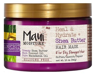 MAUI MOISTURE SHEA BUTTER HAIR MASK 12 Ounce JAR