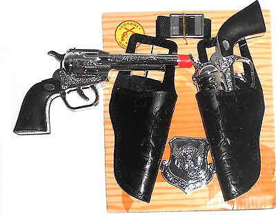 Western Toy Cowboy Gun & Holster Set with  Badge and Belt