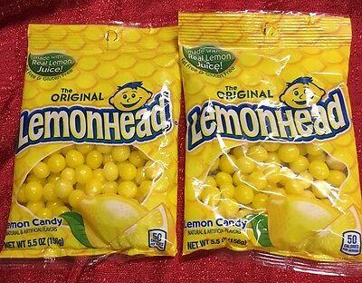 2 Bags Of Ferrara Lemonhead Lemon Candy 5.5 Ea -11 Oz Total Lemonheads