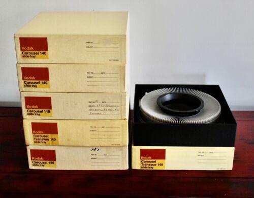 6 Kodak 140 capacity Carousel Projector slide trays 35MM slides #101