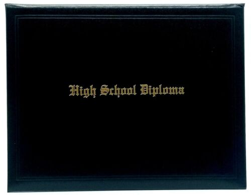 Home School Diploma + Black Padded Case + Gold Foil Honors + Scripture Seal